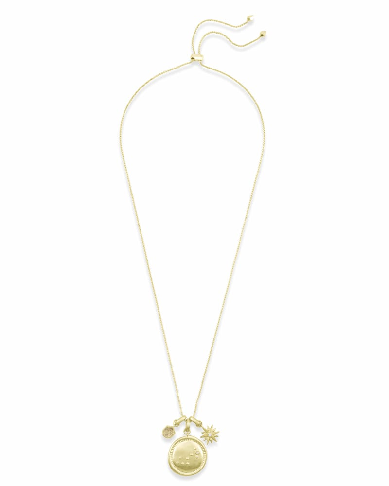 November Scorpio Charm Necklace Set in Gold