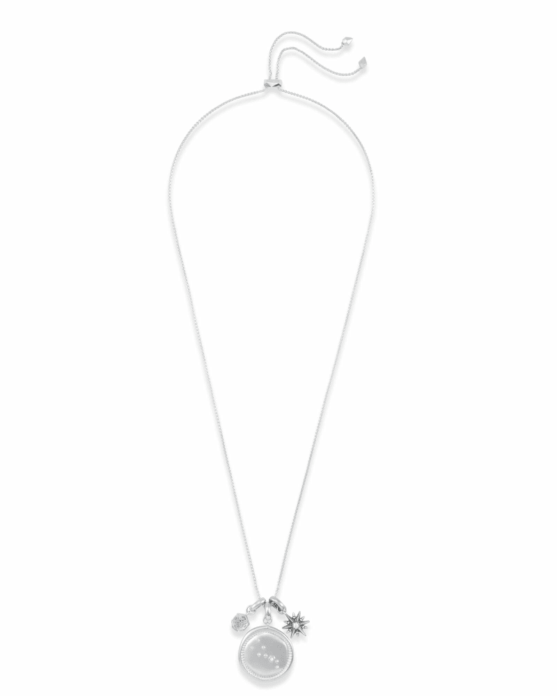 April Taurus Charm Necklace Set in Silver