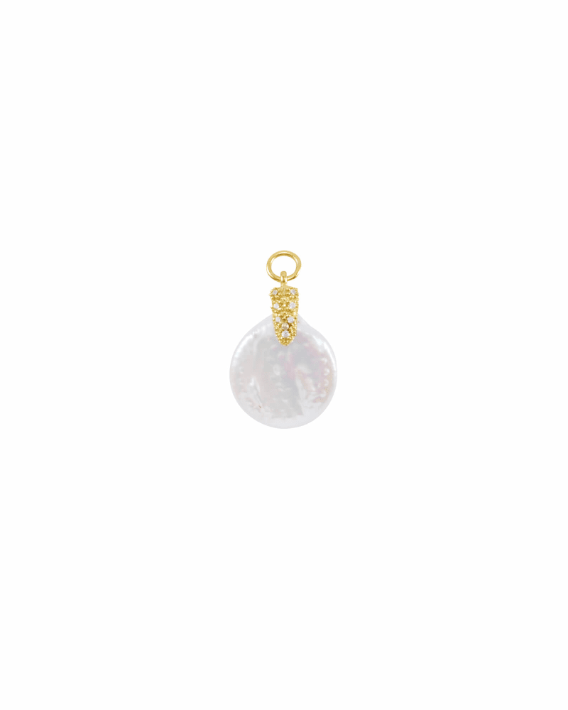 Baroque Pearl Charm in Gold