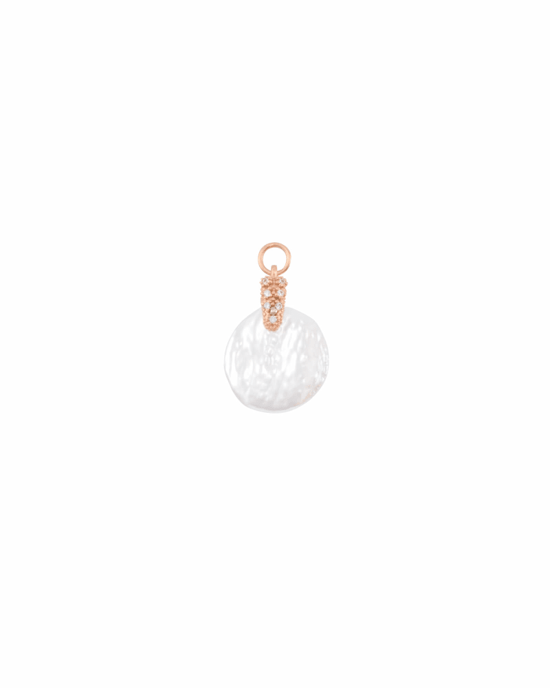 Baroque Pearl Charm in Rose Gold