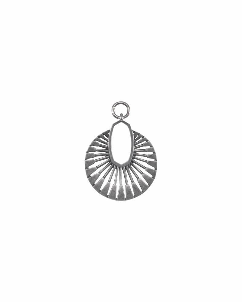Sunburst Charm in Vintage Silver