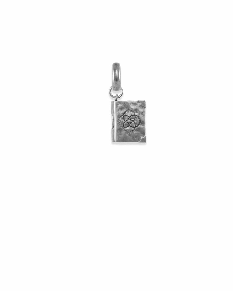 Literacy Charm in Vintage Silver