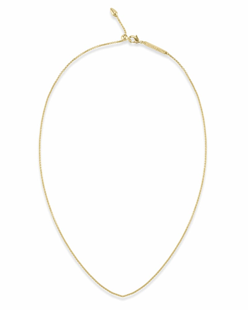 Petite Thin Adjustable Chain Necklace