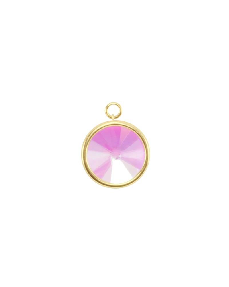 Radial Disc Gold Charm in Dichroic Glass