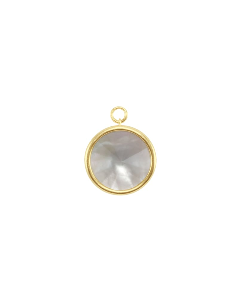 Radial Disc Gold Charm in Gray Illusion