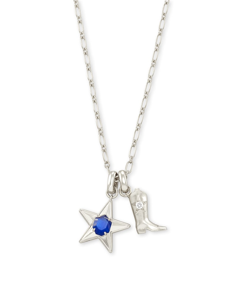 Dallas Cowboys Star and Boot Necklace Set in Silver
