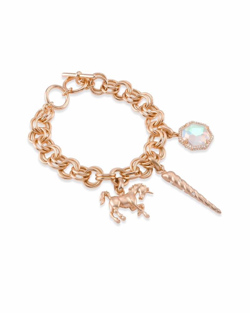 Magical Charm Bracelet Set in Rose Gold