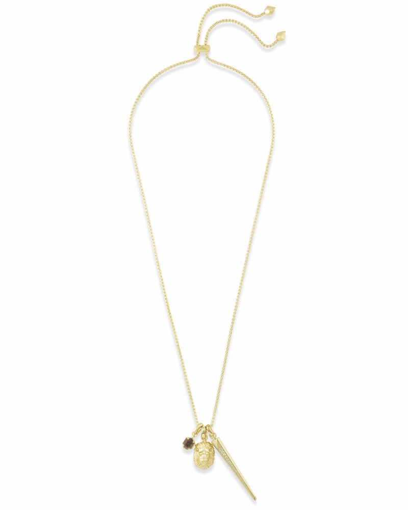 Fierce Charm Necklace Set in Gold