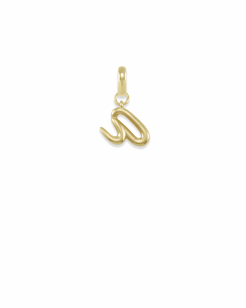 Letter A Charm in Gold