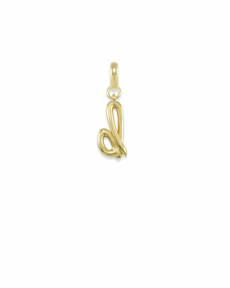 Letter B Charm in Gold
