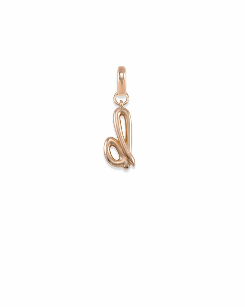 Letter B Charm in Rose Gold
