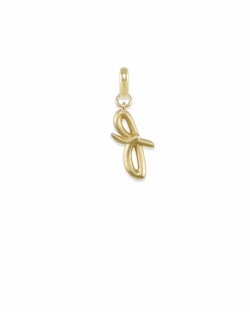 Letter F Charm in Gold
