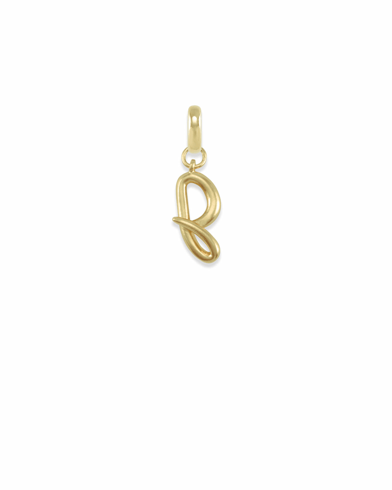 Letter J Charm in Gold