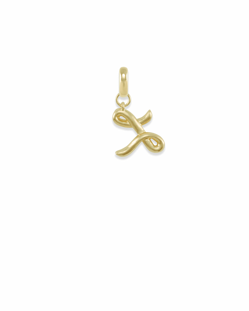 Letter L Charm in Gold