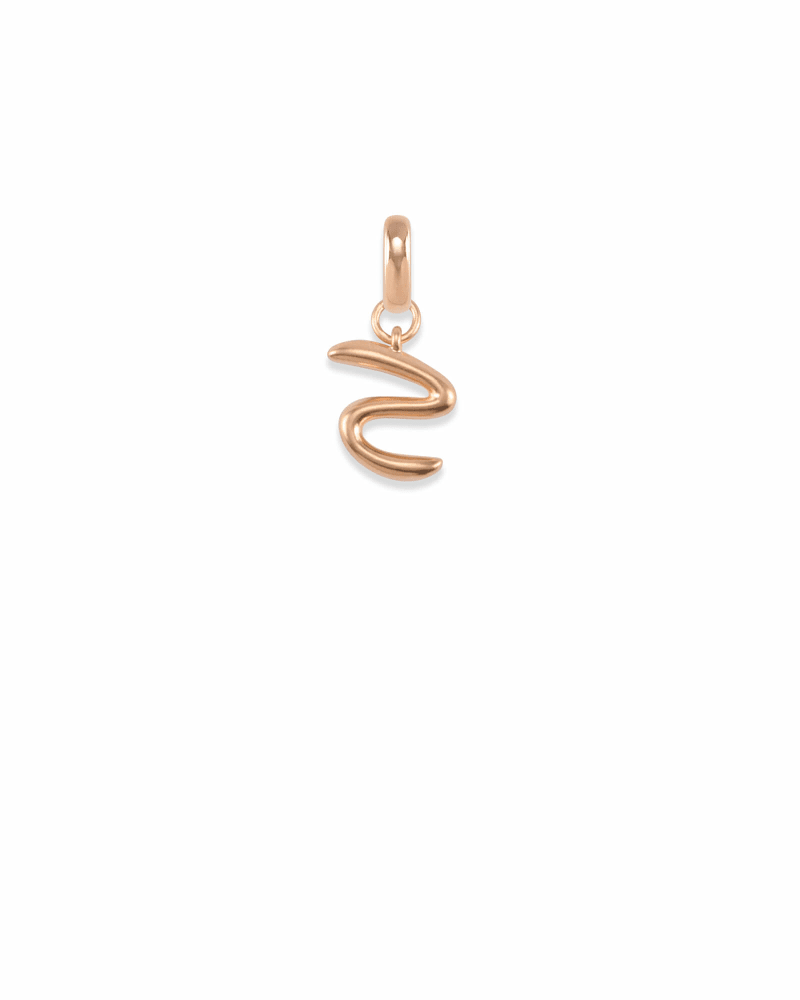 Letter S Charm in Rose Gold
