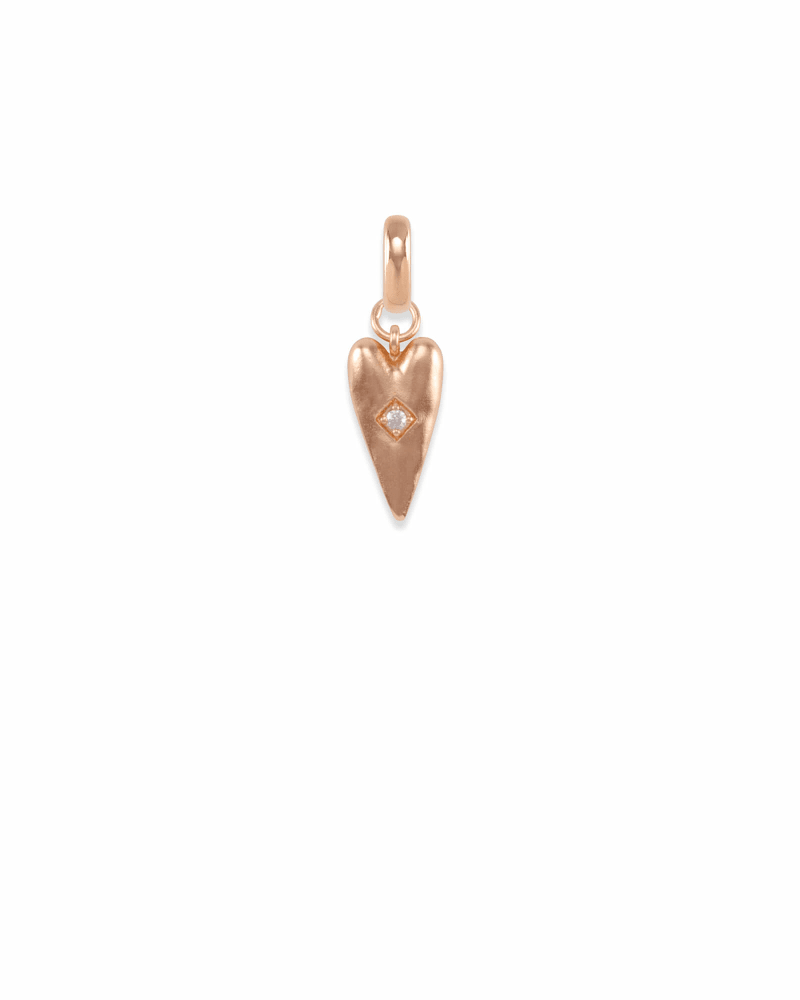 Heart Health Charm in Rose Gold