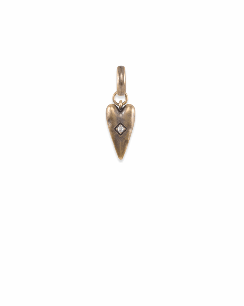 Heart Health Charm in Vintage Gold