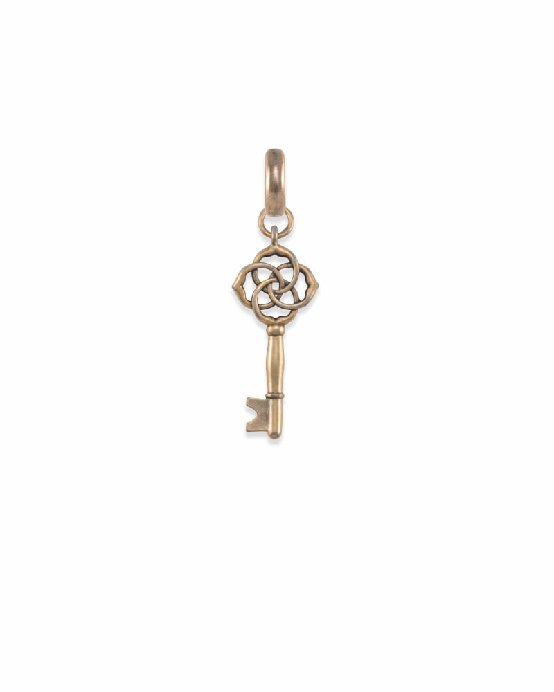 Home & Shelter Charm in Vintage Gold