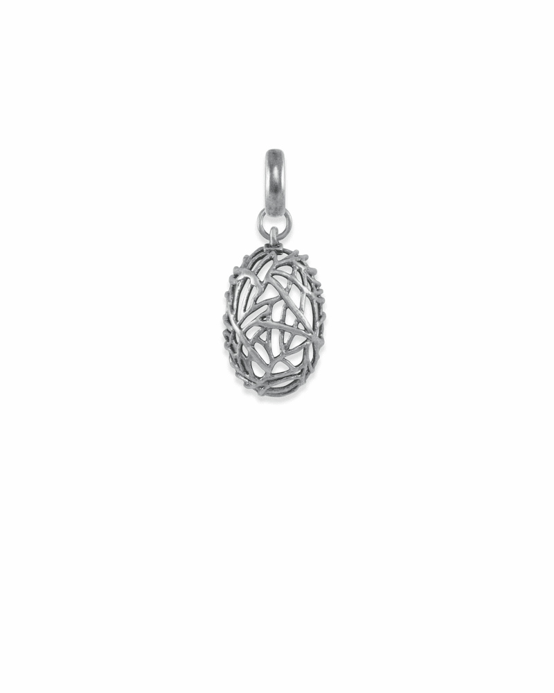 Mothers & Families Charm in Vintage Silver