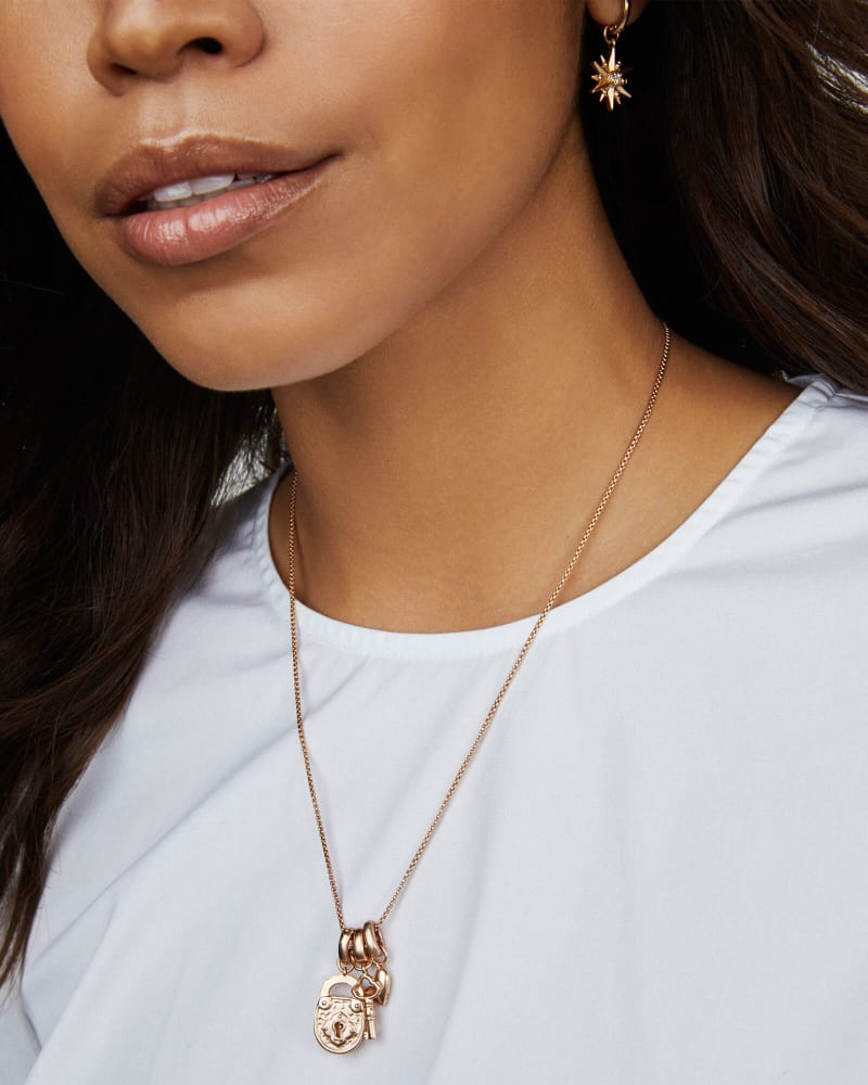 Key to My Heart Charm Set in Rose Gold