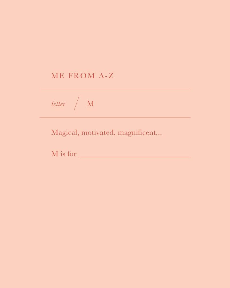 Letter M Charm