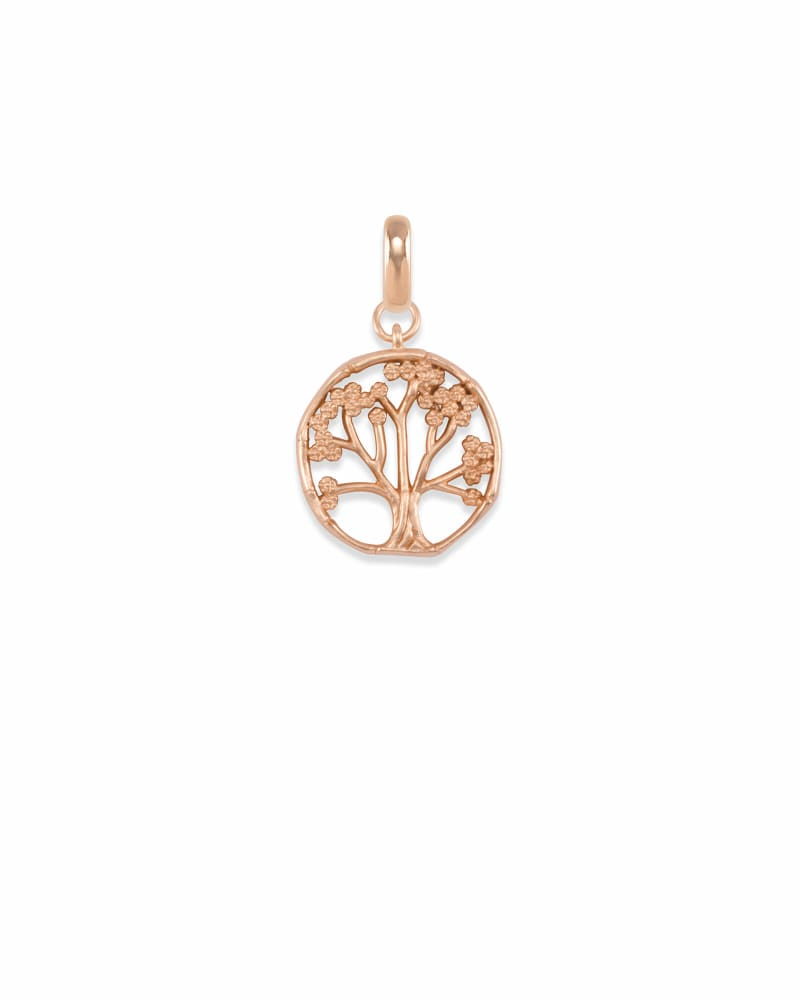 Cherry Blossom Tree Charm in Rose Gold