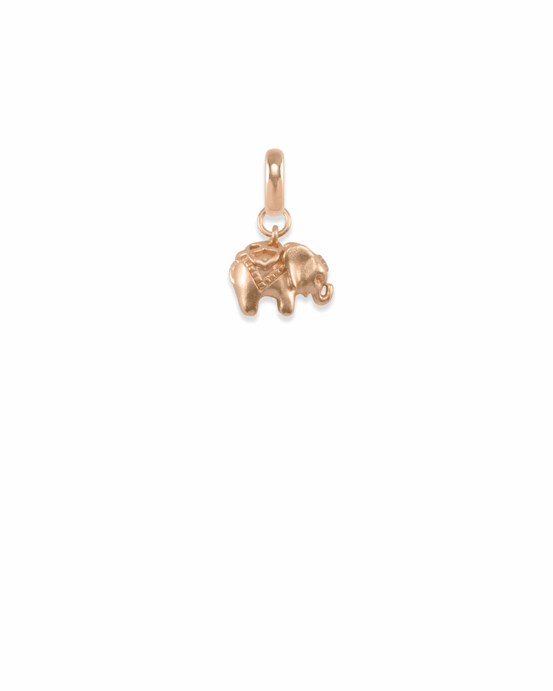 Elephant Charm in Rose Gold
