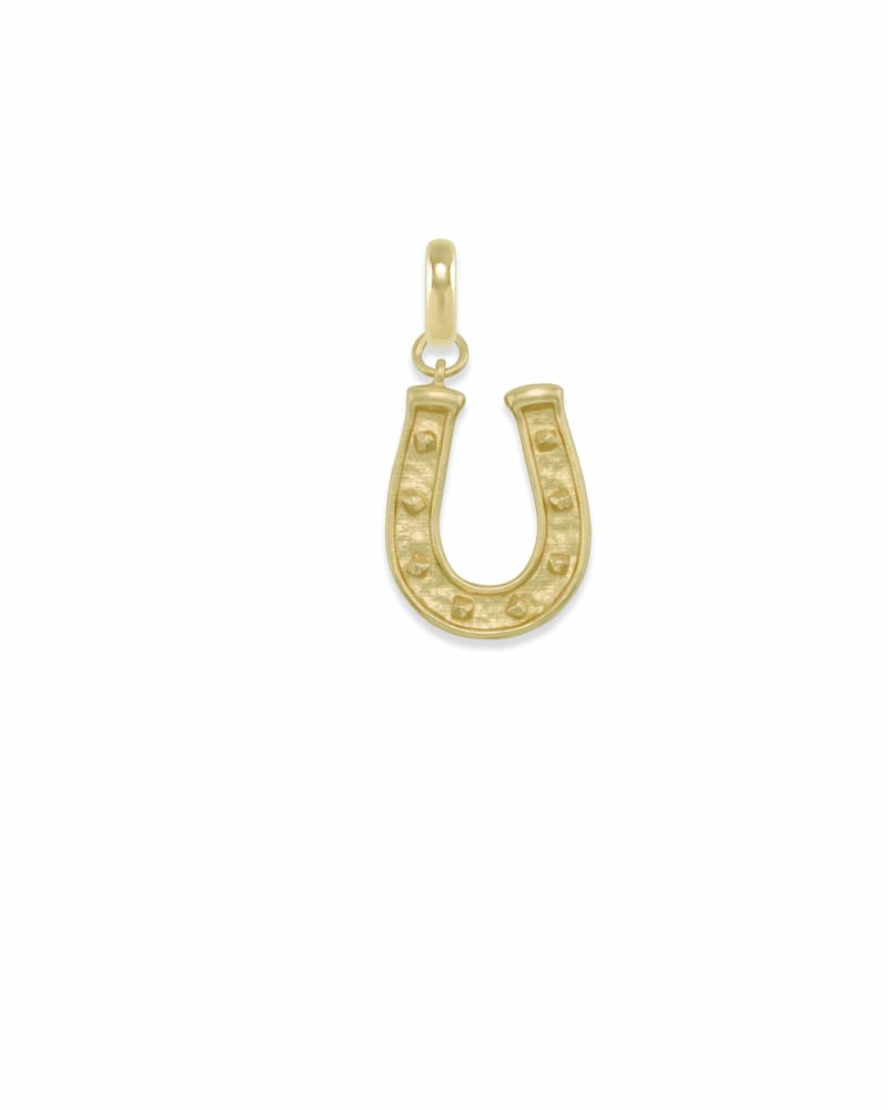Horseshoe Charm in Gold