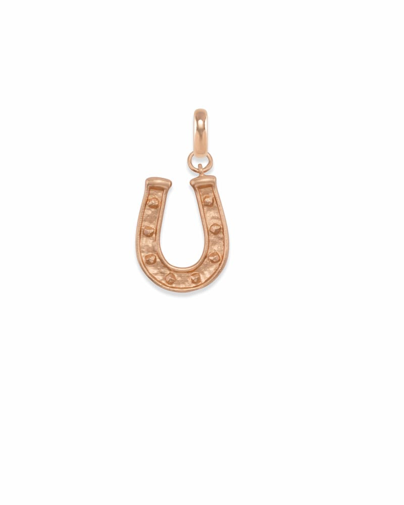 Horseshoe Charm in Rose Gold