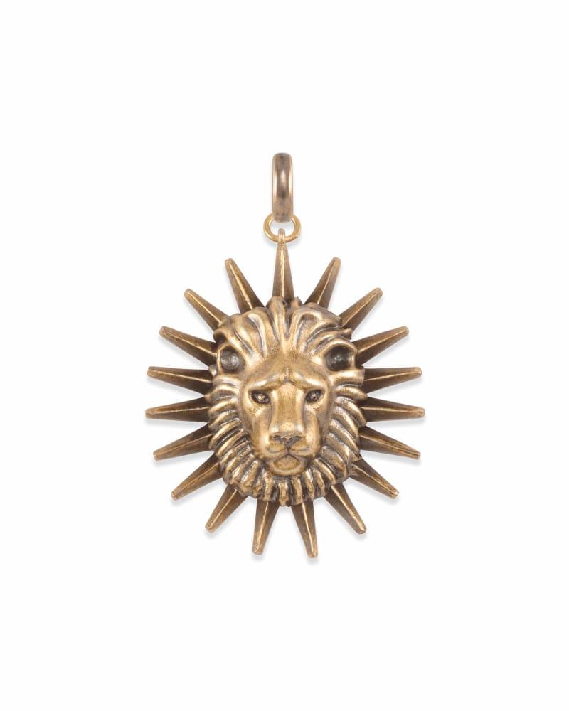 Large Lion Charm in Vintage Gold