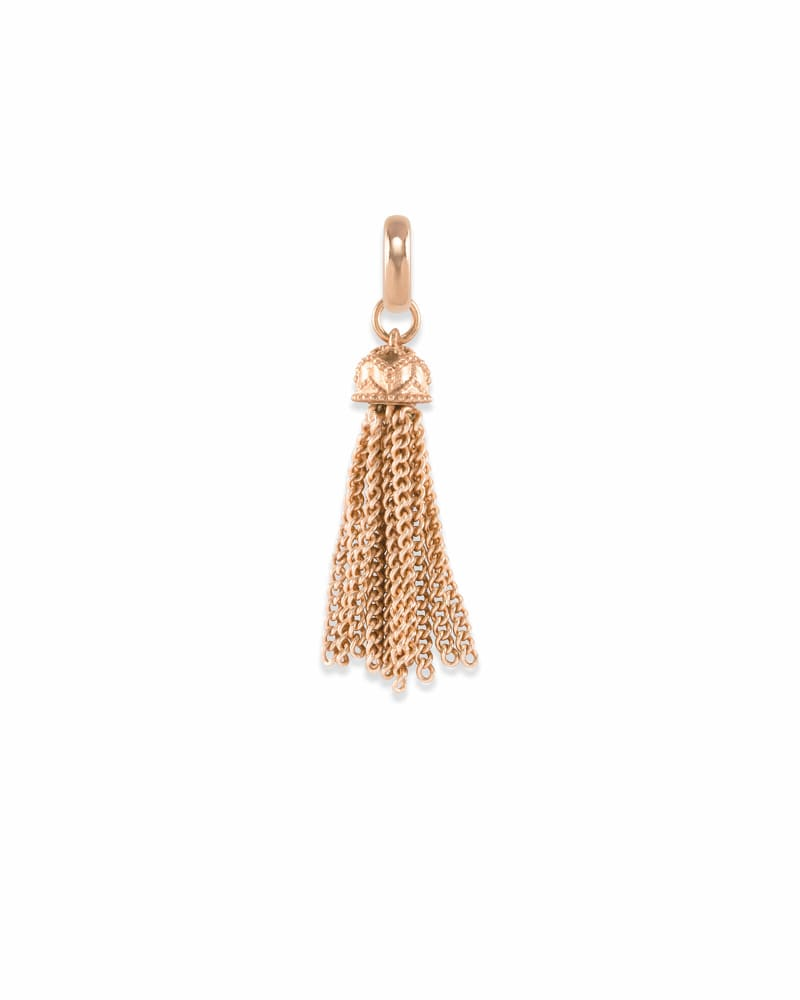 Small Tassel Charm in Rose Gold