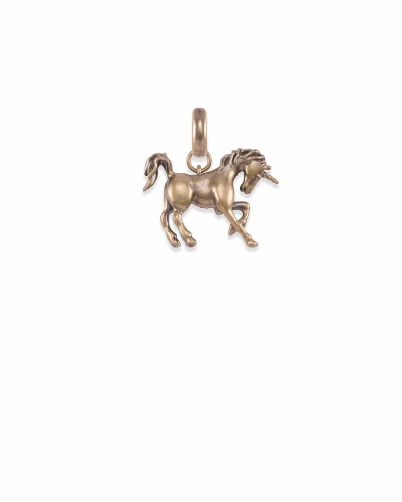 Unicorn Charm in Vintage Gold