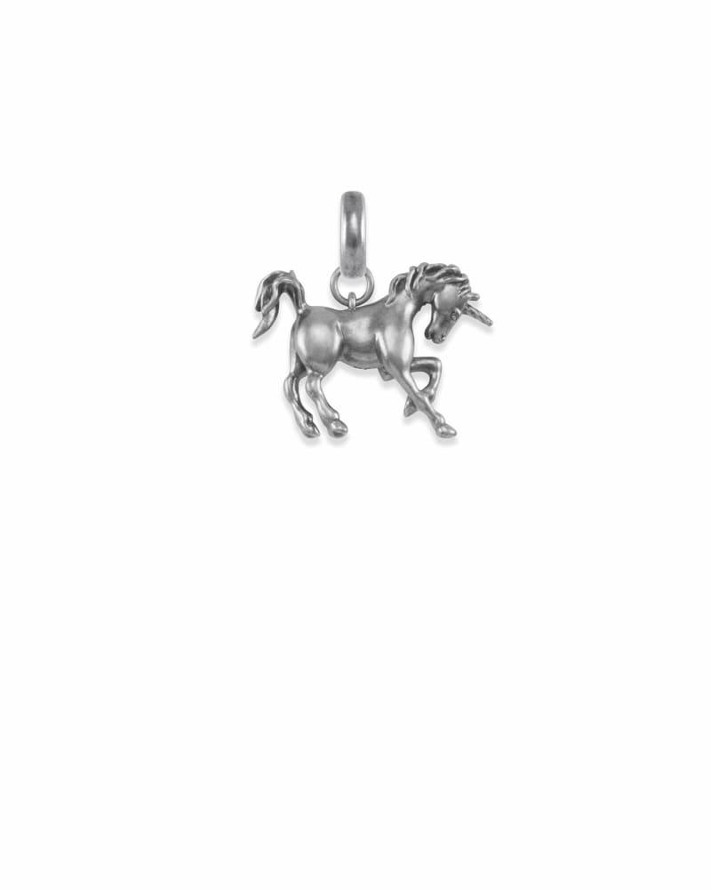 Unicorn Charm in Vintage Silver