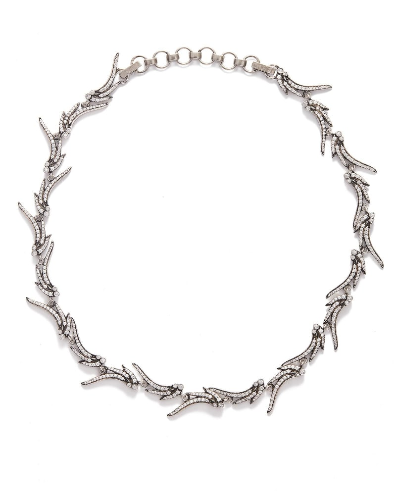 Cleo Collar Necklace in Antique Silver