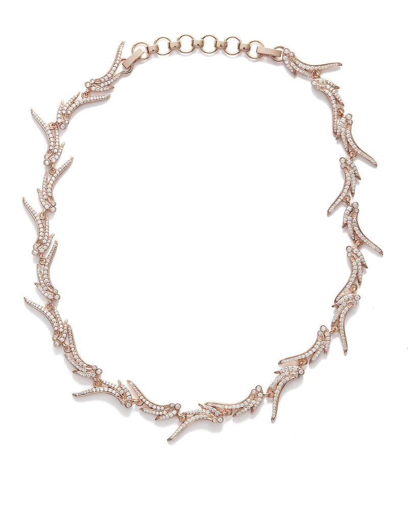 Cleo Collar Necklace in Rose Gold