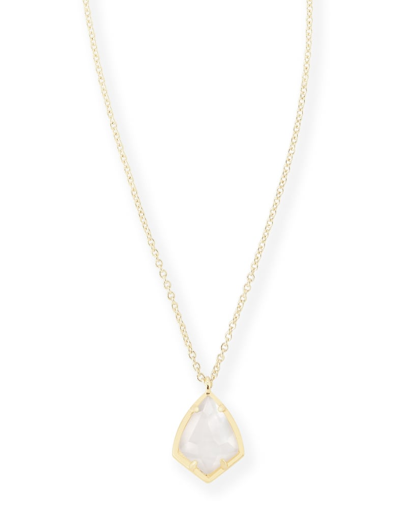 Cory Pendant Necklace in Ivory Pearl
