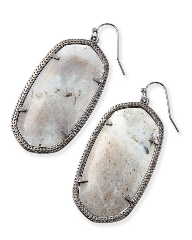 Danielle Statement Earrings in Labradorite