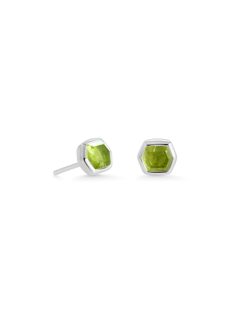 Davie Sterling Silver Stud Earrings in Peridot