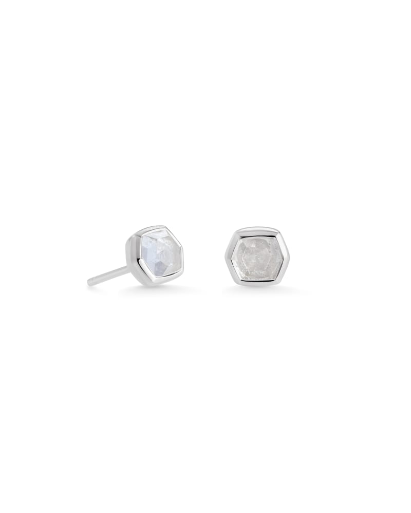 Davie Sterling Silver Stud Earrings in Rock Crystal