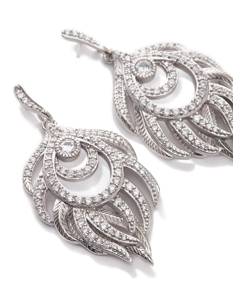 Emelia Statement Earrings in Silver