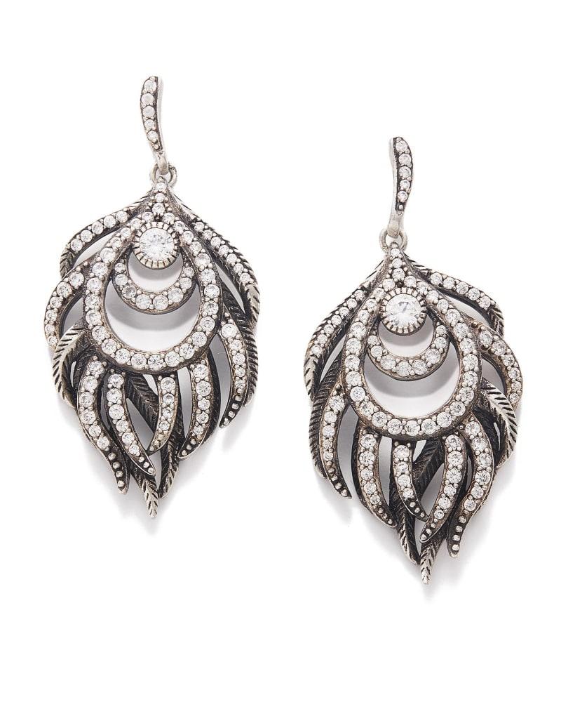 Emelia Statement Earrings in Antique Silver