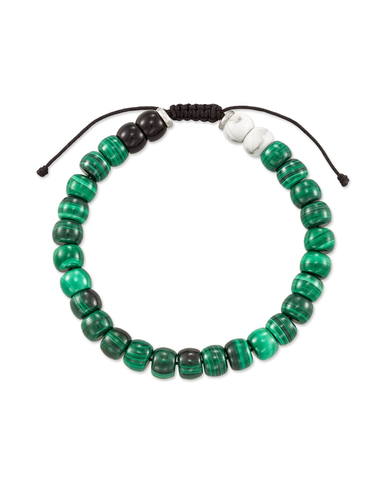 Cade Oxidized Sterling Silver Beaded Bracelet in Verde Mix