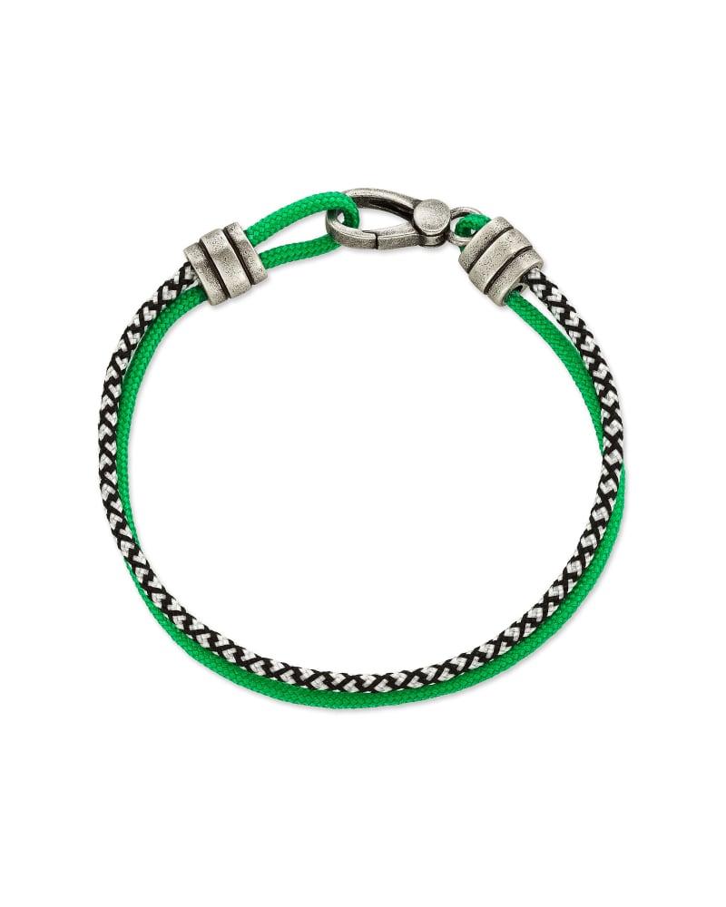 Kenneth Oxidized Sterling Silver Corded Bracelet in Verde Mix