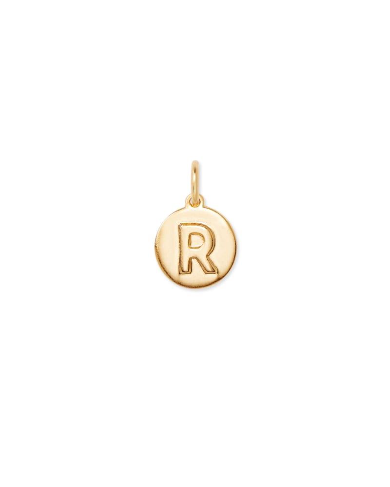 18K Gold Vermeil Letter R Coin