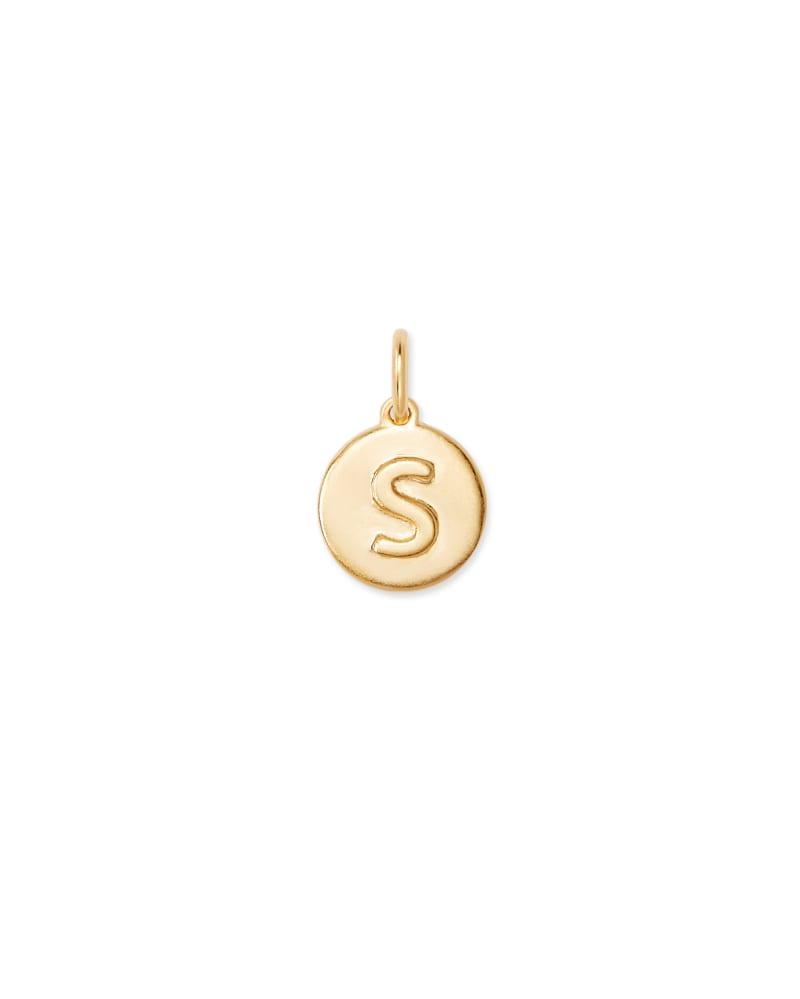18K Gold Vermeil Letter S Coin