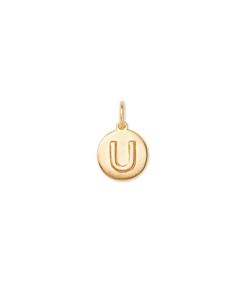 18K Gold Vermeil Letter U Coin