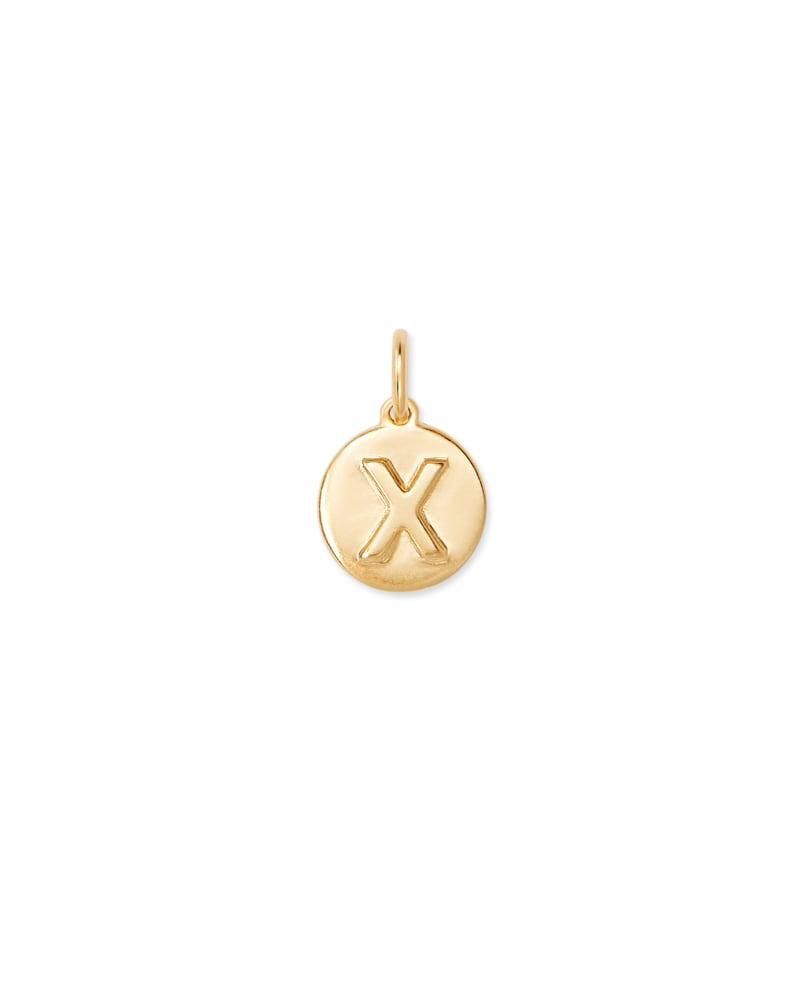 18K Gold Vermeil Letter X Coin