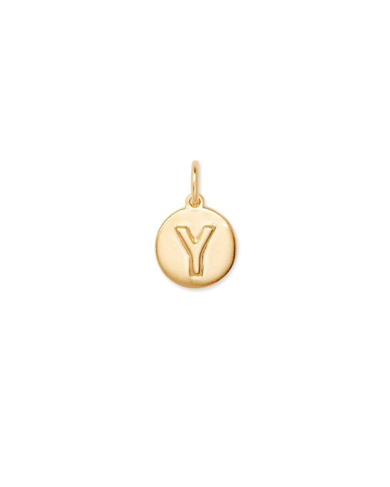 18K Gold Vermeil Letter Y Coin