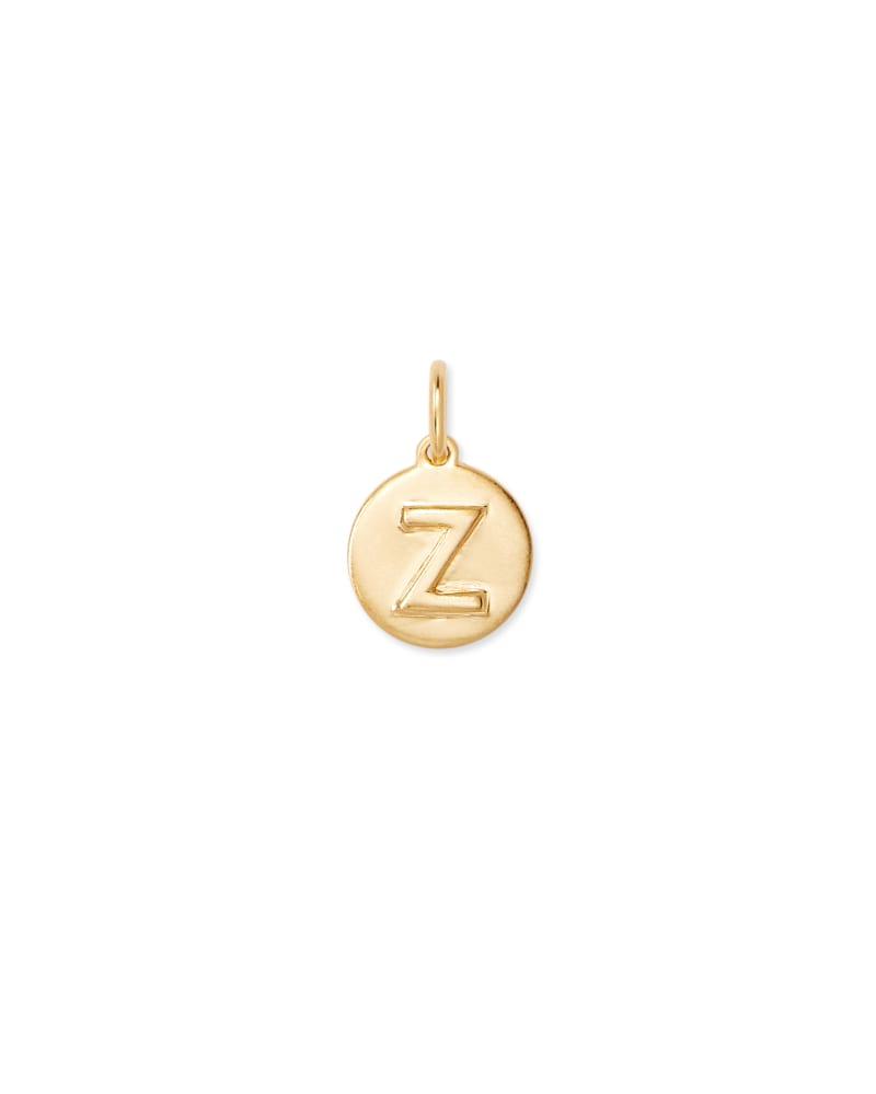 18K Gold Vermeil Letter Z Coin