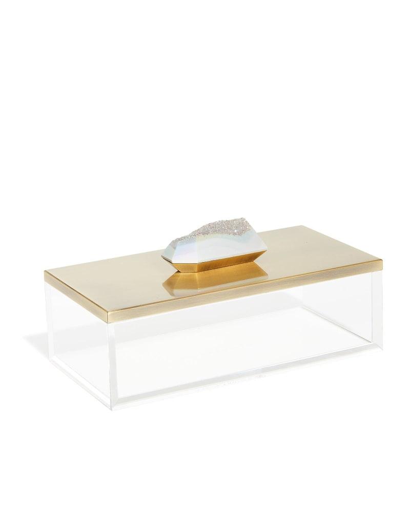 Rectangular Acrylic Box in Iridescent Drusy